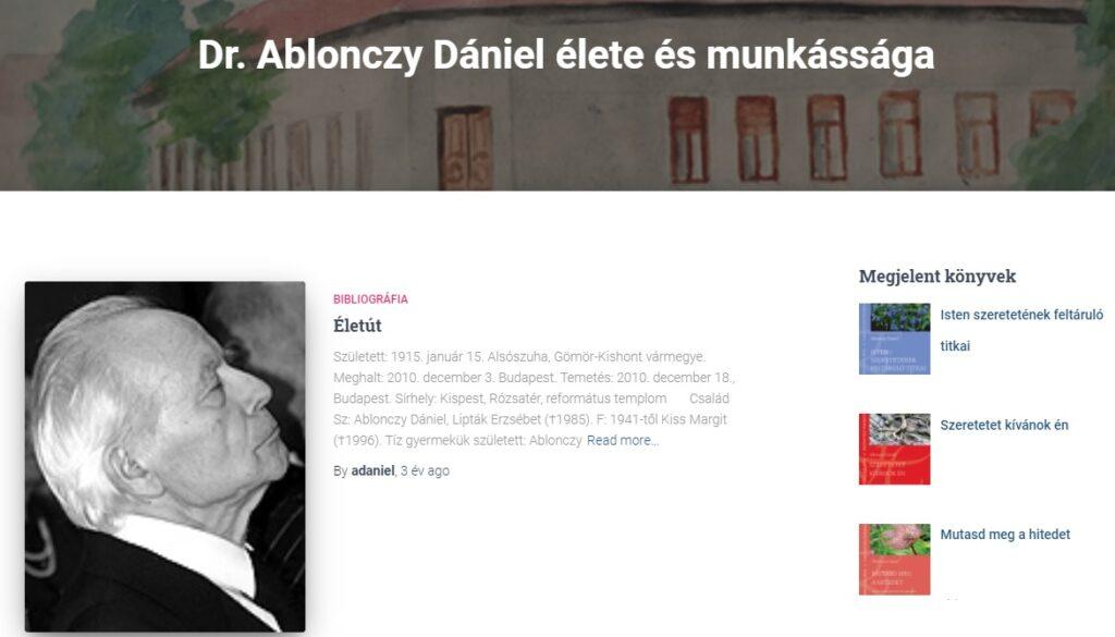 Ablonczy Dániel In Memoriam